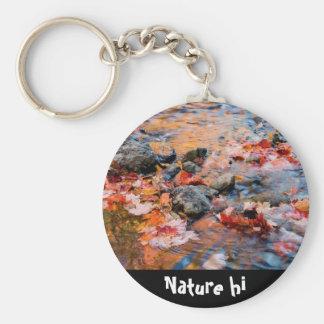 color de las hojas de otoño llavero redondo tipo pin