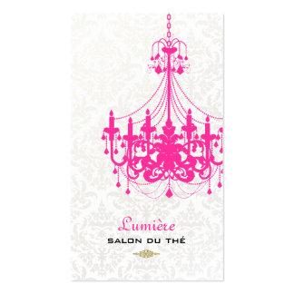 Color de las rosas fuertes chandelier/DIY de Tarjetas De Visita