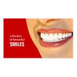 Color de las tarjetas de visita del dentista cambi