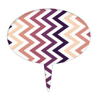Color de los diseños geométricos de Brown Borgoña Figura De Tarta