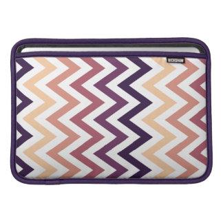 Color de los diseños geométricos de Brown Borgoña Funda Para Macbook Air