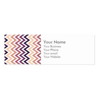 Color de los diseños geométricos de Brown Borgoña Tarjetas De Visita Mini