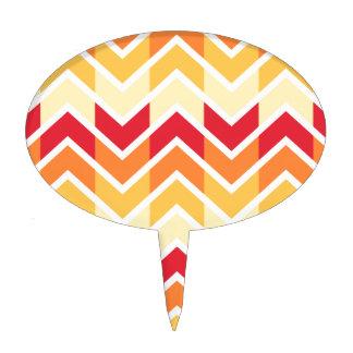 Color de los diseños geométricos de Chevron del Decoraciones Para Tartas