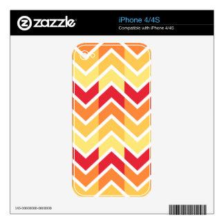 Color de los diseños geométricos de Chevron del Skin Para El iPhone 4S