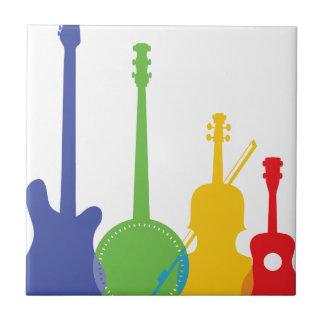 Color de los instrumentos azulejo cuadrado pequeño