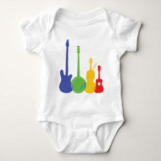 Color de los instrumentos mameluco de bebé