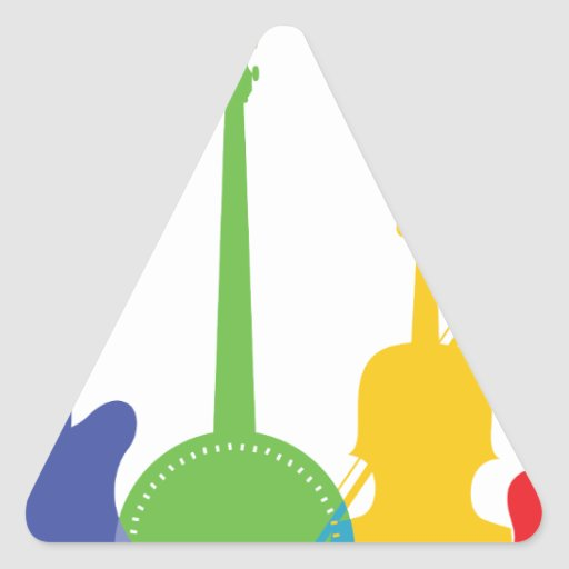 Color de los instrumentos calcomanías triangulos personalizadas