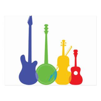 Color de los instrumentos tarjetas postales
