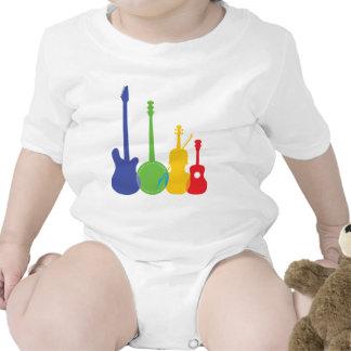 Color de los instrumentos traje de bebé