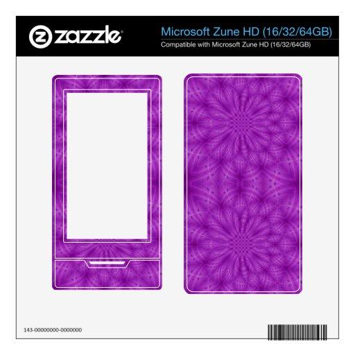 Color de madera abstracto de la púrpura del modelo skins para zune HD