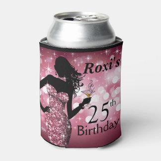 Color de malva del cumpleaños el   de la chispa de enfriador de latas