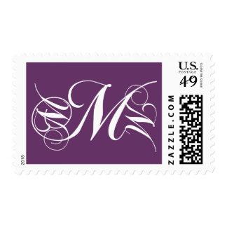 Color de malva del sello de la inicial M de la let