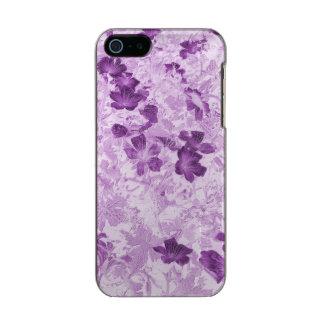Color de malva floral carcasa de iphone 5 incipio feather shine