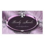 Color de malva púrpura de la joyería de la flor de tarjetas de visita