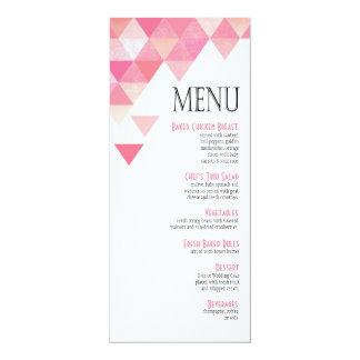 Color de malva rosada geométrica del menú el | de invitación 10,1 x 23,5 cm