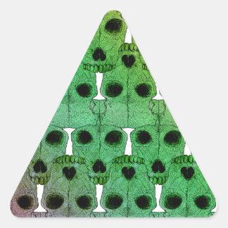 Color de Minotaur Pegatina Triangular