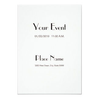 Color de papel básico 5x7 de la perla de la invitación 12,7 x 17,8 cm