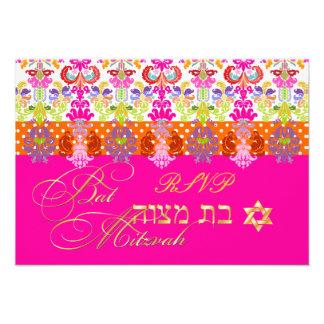 Color de PixDezines/rsvp diy Isabel, palo Mitzvah Invitación Personalizada