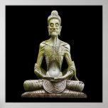 Color de poster de Buda que muere de hambre