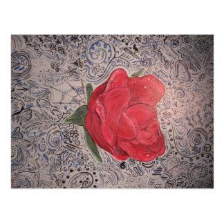 color de rosa acabada postal