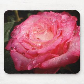 Color de rosa alfombrillas de ratones