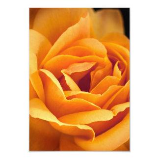 """Color de rosa amarillo-naranja brillante invitación 3.5"""" x 5"""""""