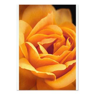 """Color de rosa amarillo-naranja brillante invitación 5"""" x 7"""""""