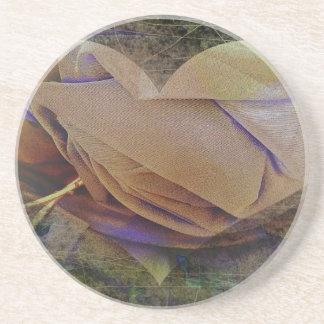 Color de rosa amelocotonado de la imagen del posavasos manualidades