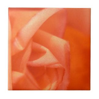Color de rosa anaranjado azulejo ceramica