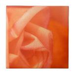 Color de rosa anaranjado azulejo cuadrado pequeño