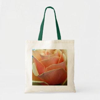 Color de rosa anaranjado bolsa tela barata