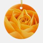 Color de rosa anaranjado bonito ornamentos de reyes magos