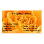 Color de rosa anaranjado bonito plantilla de tarjeta de negocio