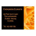 Color de rosa anaranjado bonito tarjetas de visita