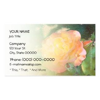 Color de rosa anaranjado claro tarjetas de visita