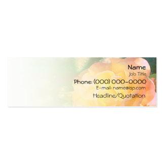 Color de rosa anaranjado claro tarjetas de visita mini