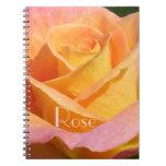 """Color de rosa anaranjado de """"Creamsicle"""" Libretas Espirales"""