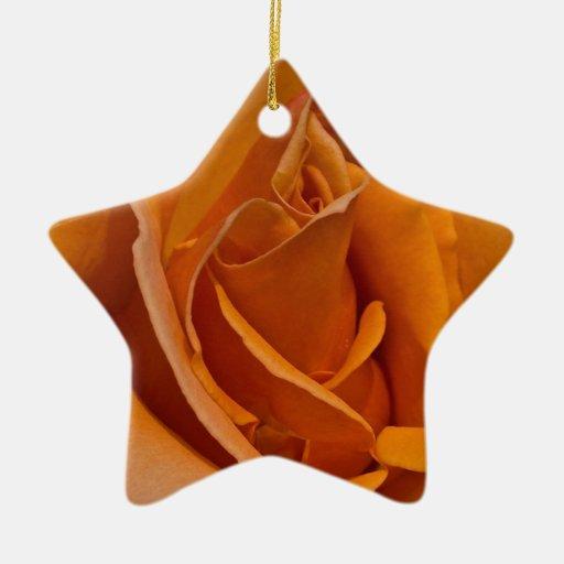 Color de rosa anaranjado ornaments para arbol de navidad
