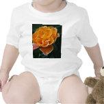 Color de rosa anaranjado del deslumbramiento y el trajes de bebé