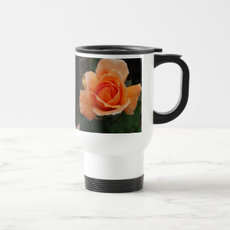 Color de rosa anaranjado en colores pastel taza de viaje de acero inoxidable