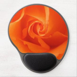 Color de rosa anaranjado maravilloso alfombrilla gel