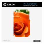 Color de rosa anaranjado calcomanía para iPod touch 4G