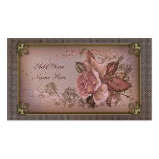 Color de rosa antiguo (nueva edición rosada) tarjeta de visita