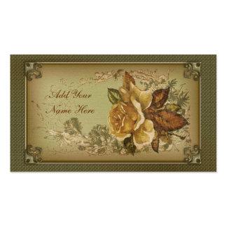 Color de rosa antiguo (nueva edición verde) tarjeta de visita