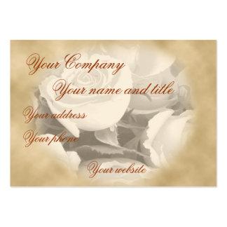 color de rosa antiguo, plantilla de la tarjeta de  tarjeta de visita