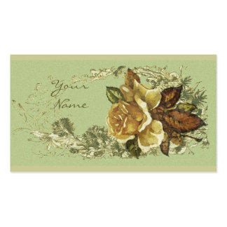 Color de rosa antiguo tarjeta personal