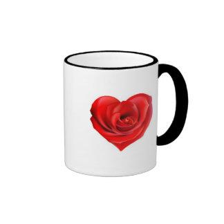 Color de rosa atractivo taza de dos colores