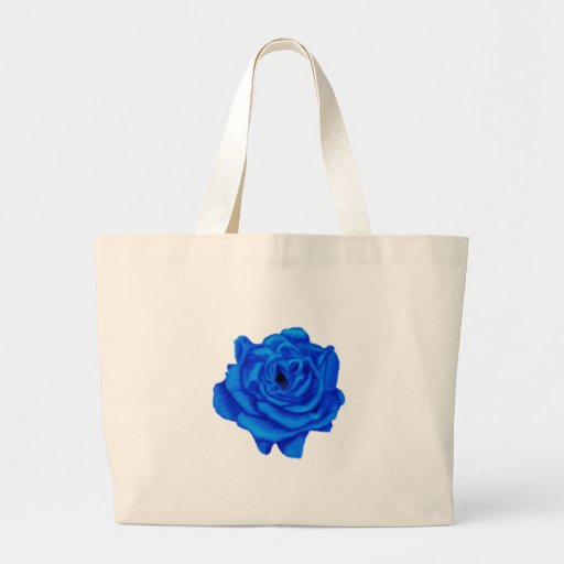 Color de rosa azul bolsas de mano