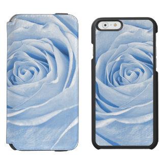 Color de rosa azul claro delicado de la foto funda billetera para iPhone 6 watson