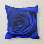Color de rosa azul cojin
